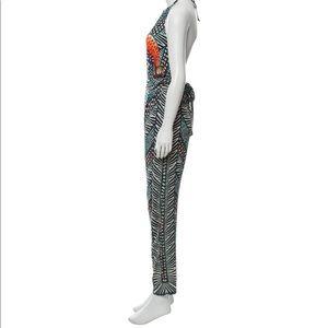 Mara Hoffman Pants - Mara Hoffman Peacock Halter Jumpsuit